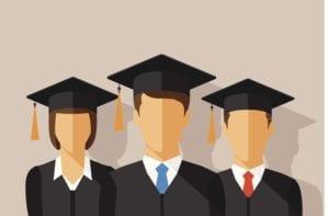 Graphic of graduates