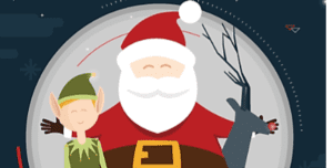 Santa and elf graphic