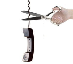 Cutting phone cord