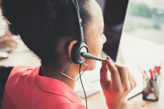 Picture of woman with headset