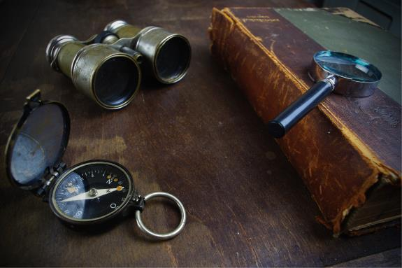 Picture of tools for exploration