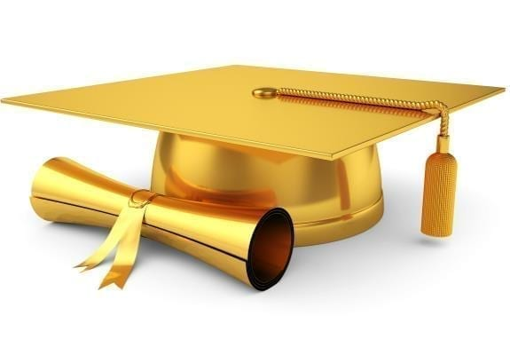 Golden graduate cap